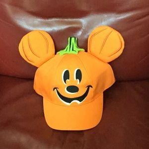 Disney Mickey Pumpkin Ear Hat NWOT